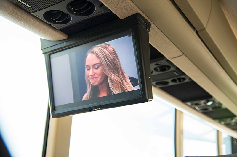 overhead tv in coach